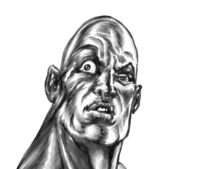The Rock Digital Sketch